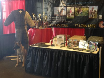 Dog training booth
